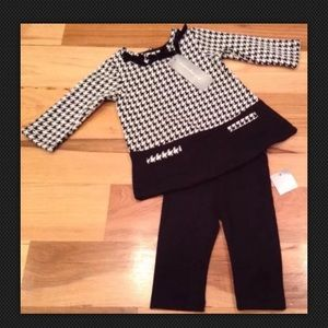 First Impression 0-3 Months Black & White outfit